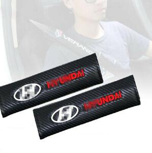 1pair For Hyundai Carbon Fiber Car Seat belt Safe Seat Belt Cover shoulder Pads