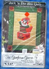 The Gingham Goose Jack in the Box Quilt Pattern Vintage Open by UnUsed