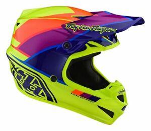 TLD Motocross Helmet SE4 Polyacrylite Beta Yellow/Purple MX Adult