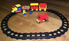 Duplo Lego Eisenbahn Zug Lok Lokomotive Flieger Flugzeug Schienen Gleise