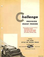 Challenge 1425E PRINTING PRESS BROCHURE PDF