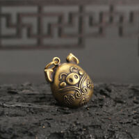 Chinese antique Collection Asian Brass Small bell Zodiac pig Exquisite statue