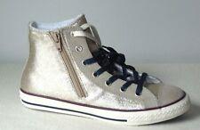 Women Converse Ct Side zip Hi Sneakers  Golden Cream-Tan  Size :5 US  Junior