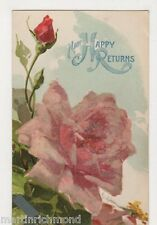 C. Klein, Flowers, Rose, Tuck 6121 Applique Chromo Postcard, B484