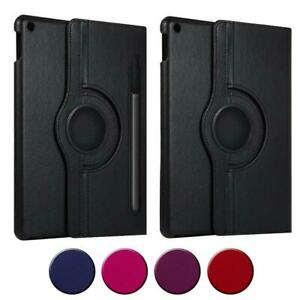 360 Degree Rotating Leather Swivel Stand Case Cover For Samsung Galaxy Tablets