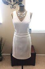 GUESS Shania White Embellished Sleeveless Dress Size 10. NWT Retail $128.00