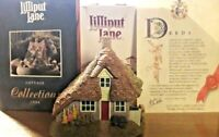 "Collectable Lilliput Lane ""Two Hoots"" Small Boxed w/brochure & deeds VGC"