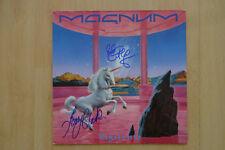 """Magnum Band Autogramme signed LP-Cover """"Vigilante"""" Vinyl"""