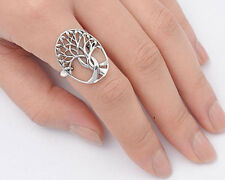 USA Seller Tree of Life & Leaf Ring Sterling Silver 925 Best Deal Jewelry Size14