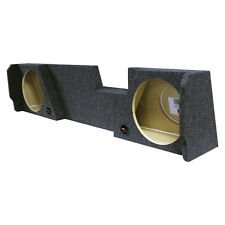 "EMPTY Dual 12"" SubWOOFER Sub Speaker BOX Under seat Downfiring Extended Cab"