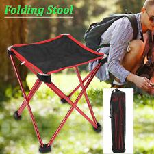 Portable Folding Stool Camping Chair Outdoor Hiking Fishing Beach Seat w/Bag