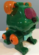 "☀� Sega Poo-Chi Bulldog Green 4"" Puppy Dog Figure Animal Toy Gift Cake Topper"