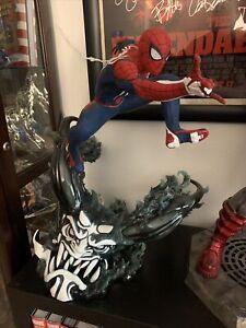 Sideshow Spider-Man Advanced Suit Statue PCS Collectibles Disney Avengers EX 1/3