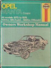 OPEL MANTA A COUPE 1.6 & 1.9 ( 1970 - 1974 ) OWNERS WORKSHOP MANUAL * HARDBACK *