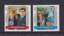 1986 Royal Wedding Prince Andrew & Sarah MNH Stamp Set Seychelles SG 651-652