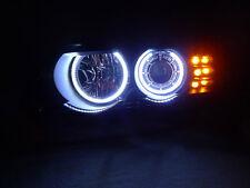 00-03 BMW X5 UHP White LED Angel Halo V2 Projector Headlight + Amber LED Signal