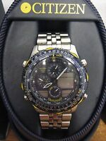 Citizen Mens Navihawk Blue Angels Pilot Watch Chronograph World Time C300-Q00842