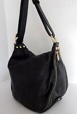 Marino Orlandi Italy Black Leather Large Sling Shoulder Bag