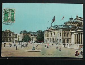 SWITZERLAND 204-GENÉVE -1910 Place Neuve.