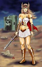 She-Ra masters of the universe 80s comicart sword 11x17 signed print Dan DeMille
