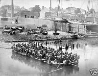1862 Photo-Civil War Raft of Blanket Boats Ferrying Soldiers across Potomac