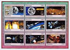 TANZANIA 1994 APOLLO 11 M/S of 9 MAP/MOON SC#1247 CV$10.00