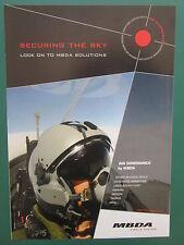 6/2011 PUB MBDA MISSILE SYSTEMS PILOT CASQUE HELMET ASRAAM MICA ORIGINAL AD