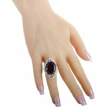 Fabulous Shimmer 925 Silver With 26.40ct Spectacular Purple Garnet & CZ Ring