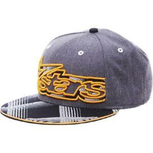 ALPINESTARS ELMORE FLATBILL HAT ORANGE FLEX-FIT LOGO CAP SMALL/MEDIUM WAS $29.95