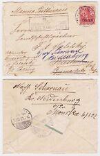 1901 China Cover Peking to Germany Rastenburg Poland S.B Ostas Marine Postbureau