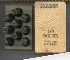 "1/4"" Round Face Dot number set Low Stess Dot hand stamps steel stamps"