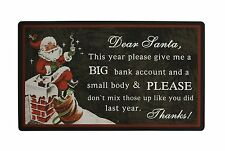 "Rubber Christmas Holiday Greeting Welcome Door Mat 28"" x 17"""