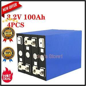 4pcs 3.2v-100ah Lifepo4 Iron Phosphate Ebike Cell Electric Car Solar Battery