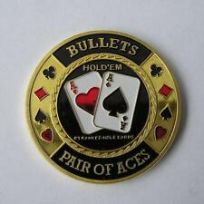 Bullets Brass Poker Card Guard