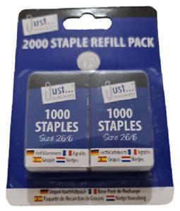 Tallon 2000 Staple Refill Pack | 26/6 Standard Size | Heavy Duty Staples Tacker