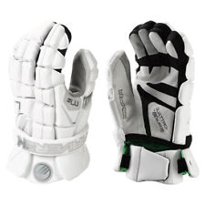 Maverik M4 Senior Lacrosse Goalie Gloves - White (NEW)