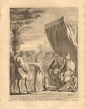 1770  ANTIQUE PRINT -BIBLE- AND THEY CAME BEFORE ELEAZER THE PRIEST AND JOSHUA