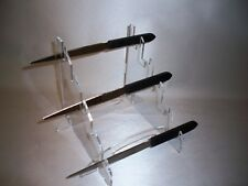 5 knife bayonet dagger  clear acrylic counter display stand collector or retail