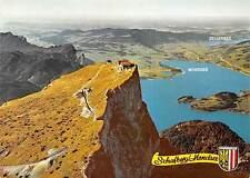 Luftbildpanorama vom Schafberggipfel mit Berghotel Mondsee Zellersee