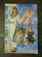 FREDERICK'S OF HOLLYWOOD CATALOG 1990 VOL 67 NO 350 LINGERIE DRESSES FREDERICKS