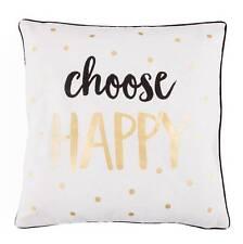 Polkadot Gold Monochrome Cushions Choose Happy Sass & Belle