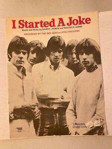 I STARTED A JOKE Original Bee Gees SHEET MUSIC Rare - 1968!