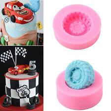 3D Car Tires Silicone Fondant Mold Cake Decorating Baking Sugarcraft Mould Tools