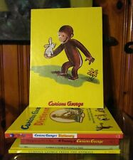 Curious George Wall Hanging & Curious George Book Lot.