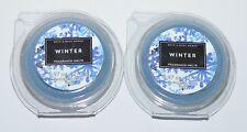 LOT OF 2 BATH & BODY WORKS WINTER WAX MELTS TART WHITE BARN CANDLE REFILL BLUE
