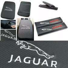 JAGUAR Embroidery Logo Carbon Car Center Armrest Cushion Mat Pad Cover Combo