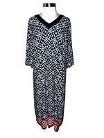CATHERINES Plus Size 3X 26W 28W Dress Black Red Ivory Short Sleeve Stretch