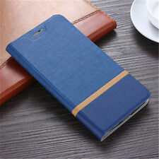 For Huawei Honor 8 Lite Luxury Magnetic Canvas Leather Flip Wallet Case Cover