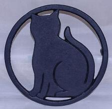 Black Cat Cast Iron Trivet 5.5 Inch Diameter Cat Lover Gift