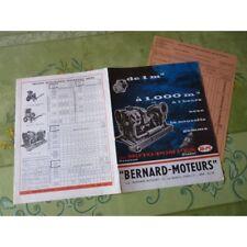 Bernard Moteurs, groupes moto-pompe, catalogue brochure dépliant